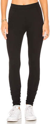 James Perse Ruched Ankle Legging in Black $125 thestylecure.com