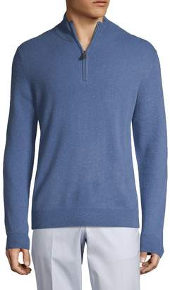 Saks Fifth Avenue Half-Zip Cashmere Sweater