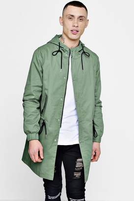 boohoo Lightweight Fishtail Hooded Parka