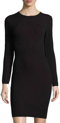 John & Jenn Lace-Overlay Sheath Dress, Black Berry $145 thestylecure.com