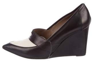 Hermes Pointed-Toe Leather Wedges