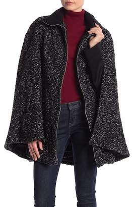 Laundry by Shelli Segal Tweed Boucl? Belted Cape