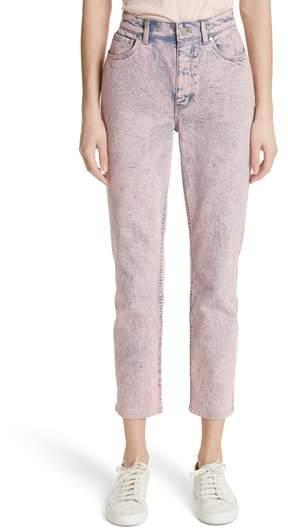 Ines Acid Wash Crop Jeans