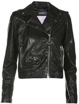 Diesel L-Sery Leather Jacket