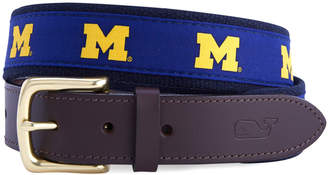 Vineyard Vines University of Michigan Canvas Club Belt