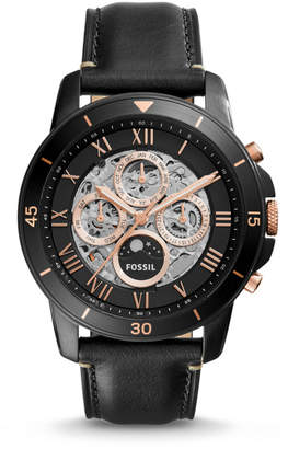 Fossil Grant Sport Automatic Black Leather Watch