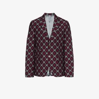 Gucci GG diamond-pattern blazer