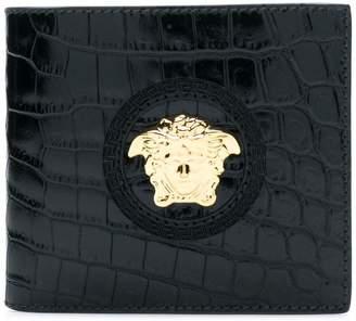 Versace Medusa crocodile print wallet