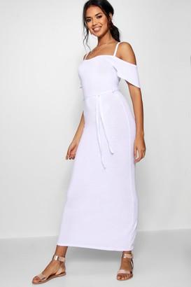 boohoo Open Shoulder Maxi Dress