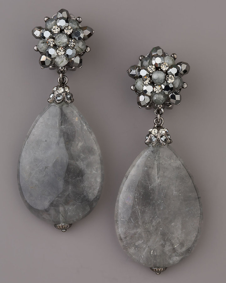 Jose & Maria Barrera Teardrop Earrings