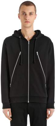 Maison Margiela Hooded Cotton Sweatshirt With Maxi Zips