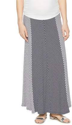 A Pea in the Pod Secret Fit Belly Multi Stripe Maternity Maxi Skirt