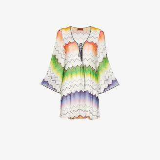 Missoni Mare lace up front kaftan