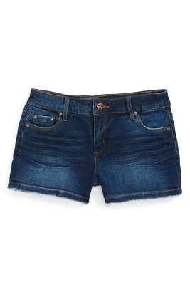 Tractr Frayed Hem Denim Shorts