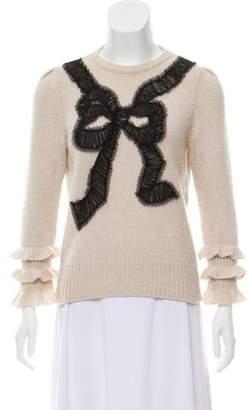 Oscar de la Renta Embellished Cashmere Sweater