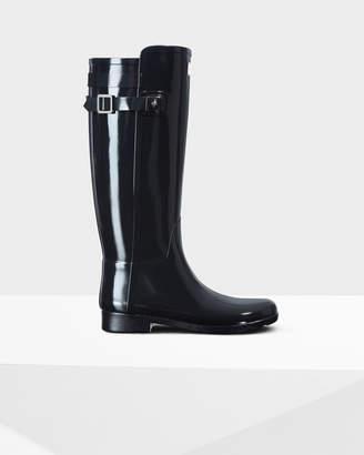Hunter Women's Original Refined Back Strap Gloss Rain Boots
