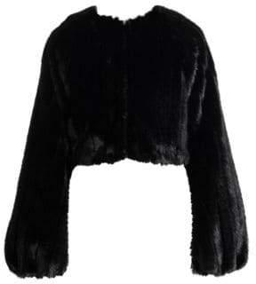 ATTICO Faux Fur Crop Jacket