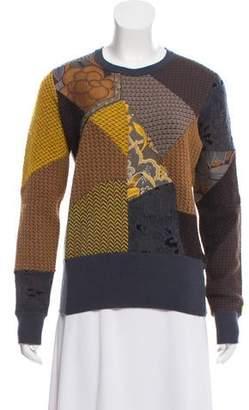 Etro Crew Neck Patchwork Sweater