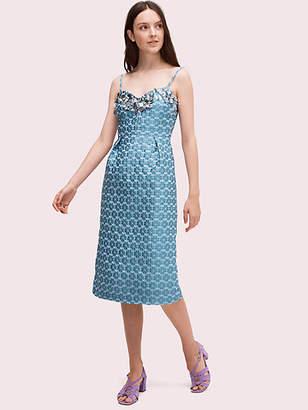 Kate Spade Flora Embellished Midi Dress, Storm Cloud - Size 0
