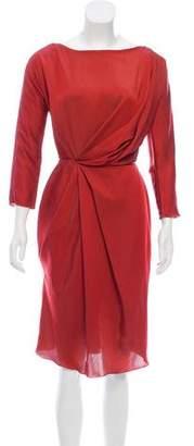 Costello Tagliapietra Satin Knee-Length Dress