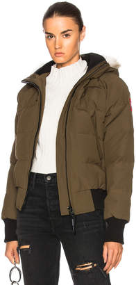 Canada Goose Savona Bomber With Coyote Fur in Military Green | FWRD
