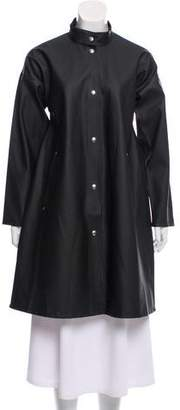 Stutterheim Stand Collar Knee-Length Coat w/ Tags