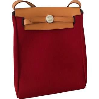 Hermes Herbag cloth crossbody bag