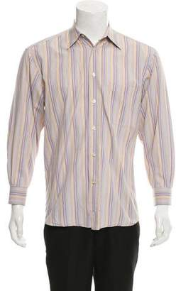 Canali Striped Button-Up Shirt
