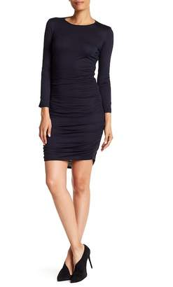 Theory Ruched Long Sleeve Mini Dress