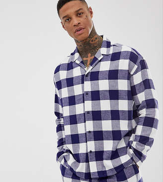 Asos Design DESIGN mix & match woven pyjama shirt in gingham