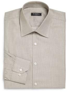 Saks Fifth Avenue Regular-Fit Textured Cotton Dress Shirt