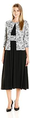 Jessica Howard Women's 3/4 Sleeve Swing Jacket with Sleeveless Ruched Dress $59.49 thestylecure.com