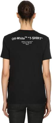 "Off-White Off White ""T-Shirt"" Print Cotton Jersey T-Shirt"