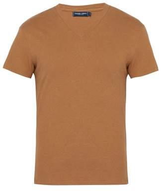 Frescobol Carioca - V Neck T Shirt - Mens - Brown
