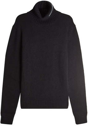 Calvin Klein Turtleneck Pullover with Wool, Mohair and Angora