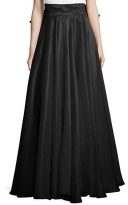 Milly Bow-Back Silk Maxi Skirt $895 thestylecure.com