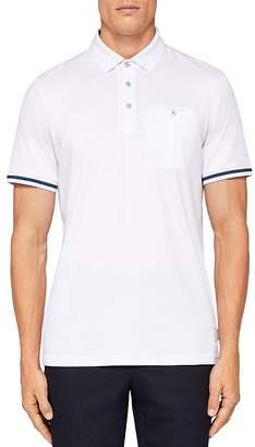 Ted Baker Puggle Stripe-Cuff Regular Fit Polo Shirt