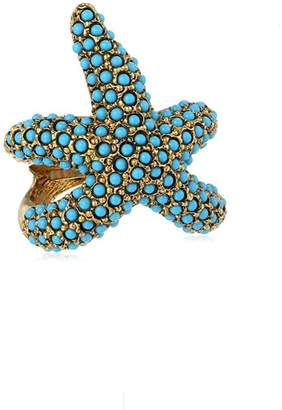 Kenneth Jay Lane Turquoise Starfish Ring