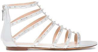 Valentino Silver Lovestud Leather Sandals
