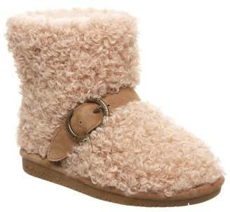 BearPaw Treasure Buckle Strap Faux Fur & Genuine Sheepskin Lined Boot (Little Kid & Big Kid)
