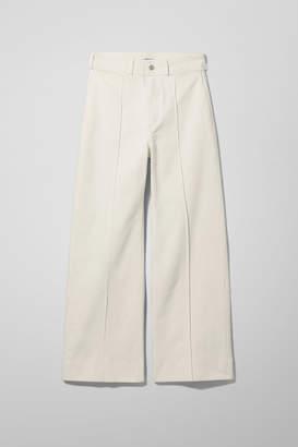 Weekday Cosmo White Denim Trousers - White