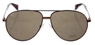 Celine Tortoiseshell Aviator Sunglasses