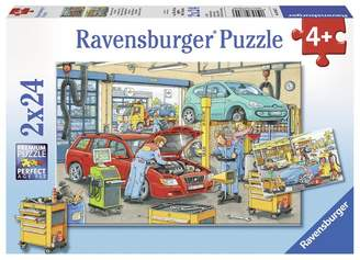 Ravensburger Repair Shop and Gas Station (2 x 24 pc puzzles)