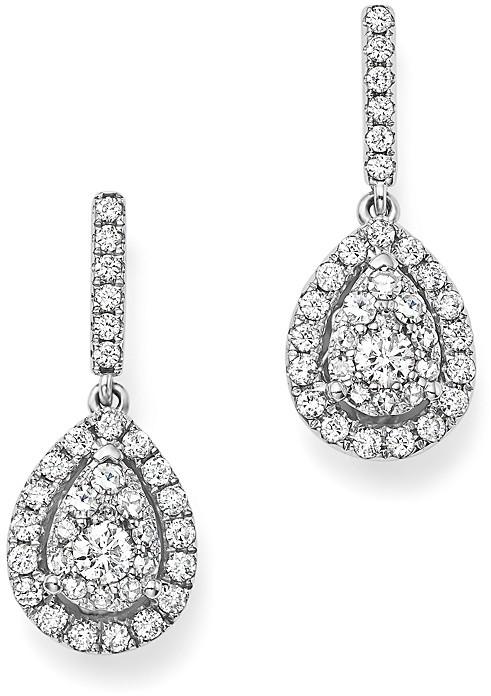 Bloomingdale'sDiamond Cluster Teardrop Earrings in 14K White Gold, 1.0 ct. t.w. - 100% Exclusive