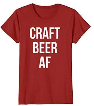 Craft Beer Af T-Shirt Funny Beer Shirt