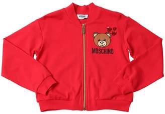 Moschino Zip-up Cotton Sweatshirt