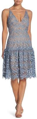 Dress the Population Lily Crochet Fit & Flare Dress