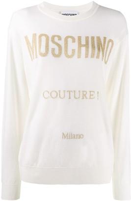 Moschino glitter detail jumper