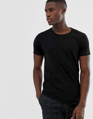 Lindbergh Stretch Crew Neck T-Shirt in Black