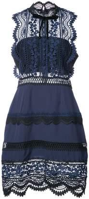 Self-Portrait lace-panelled dress